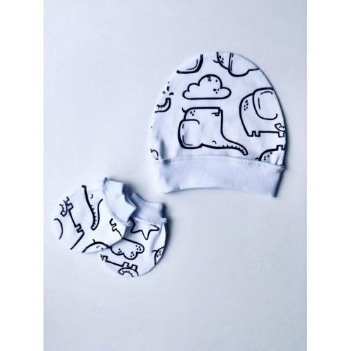 151 ИНО Рукавички для новорожденных из интерлока